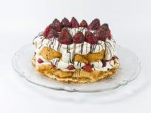 клубника shortcake плиты Стоковые Изображения