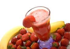 клубника smoothie плодоовощ Стоковое Изображение