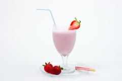 клубника smoothie стоковая фотография