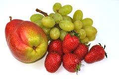 клубники груши виноградины Стоковое Изображение