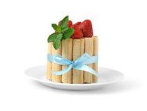 клубники десерта Стоковое Изображение