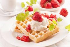 клубники десерта Стоковая Фотография
