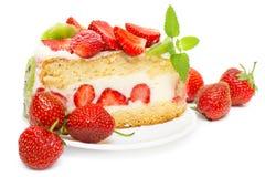 клубники кивиа плодоовощ торта Стоковое Изображение RF