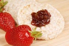 клубники риса варенья торта Стоковые Фотографии RF
