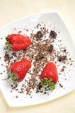 клубники шоколада свежие Стоковые Изображения RF