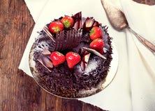 клубники шоколада торта Стоковое Изображение