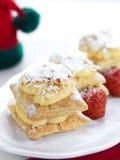 клубники cream десерта Стоковая Фотография RF