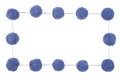 клубоки предпосылки голубые изолировали белизну Стоковое Изображение