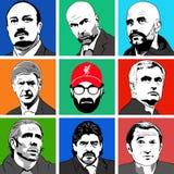 Клубы футбола менеджеров иллюстрация штока