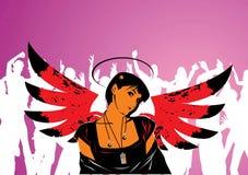 клуб ангела абстракции Стоковые Фотографии RF