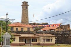 Клуб & башня с часами обслуживаний Галле Стоковые Изображения RF