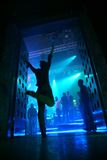 клуб вписывает ночу к Стоковое Изображение RF