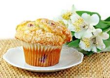 клюква цветет белизна булочки стоковая фотография rf