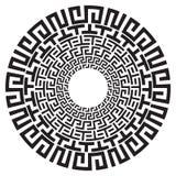 Ключа меандра древнегреческия картина вектора круглого черно-белая иллюстрация вектора
