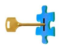 ключевая головоломка Стоковое Изображение RF