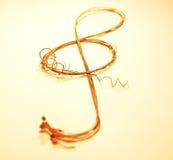 ключевая скрипка Стоковая Фотография