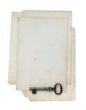 ключевая старая бумага Стоковые Изображения