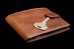 ключевое кожаное портмоне Стоковое Изображение