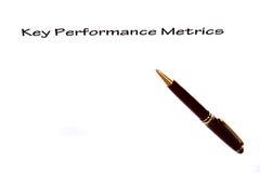 ключевое представление метрической системы мер Стоковая Фотография