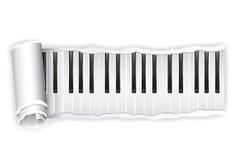 ключевой бумажный рояль иллюстрация штока