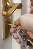 ключевой замок Стоковые Изображения RF
