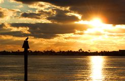 ключевой заход солнца западный Стоковые Изображения RF