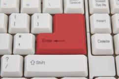ключевой красный цвет клавиатуры Стоковая Фотография