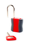 ключевой открынный padlock Стоковые Фото