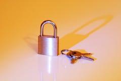 ключевой padlock Стоковые Изображения
