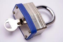 ключевой padlock Стоковая Фотография