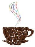 Ключевые слова кофе и кофейная чашка Стоковые Фото