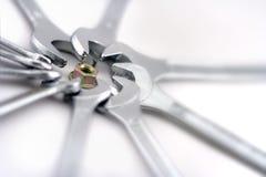 ключи гайки Стоковое фото RF