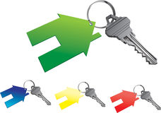 Ключи дома иллюстрация штока