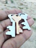 Ключи запирают безопасность утюга оборудования hardwork успеха ключевую стоковое изображение