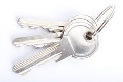 ключи изолированные крупным планом Стоковая Фотография