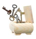 ключи коробки вне Стоковое Изображение