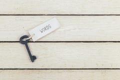 Ключи к словам стоковые фотографии rf