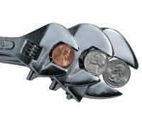 ключи монеток Стоковое Фото