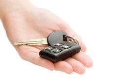 ключи руки автомобиля Стоковое Изображение