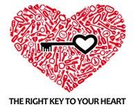ключи сердца Стоковые Изображения RF