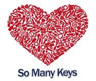 ключи сердца 3d Стоковые Фотографии RF