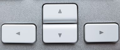 Ключи стрелки на клавиатуре Стоковая Фотография RF
