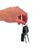 ключи удерживания руки Стоковая Фотография RF