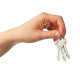 ключи удерживания руки стоковое изображение rf