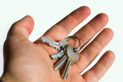 ключи удерживания руки Стоковое фото RF