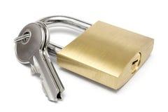 ключи padlock одиночный w Стоковое Изображение