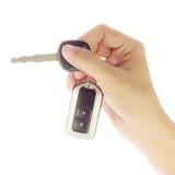Ключ автомобиля в руке Стоковое фото RF