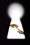 Ключ в keyhole стоковое фото rf