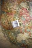 ключ глобуса земли домашний Стоковое Изображение RF