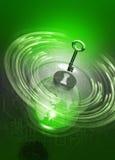ключ глобуса земли компьютера фона любит Стоковое Фото